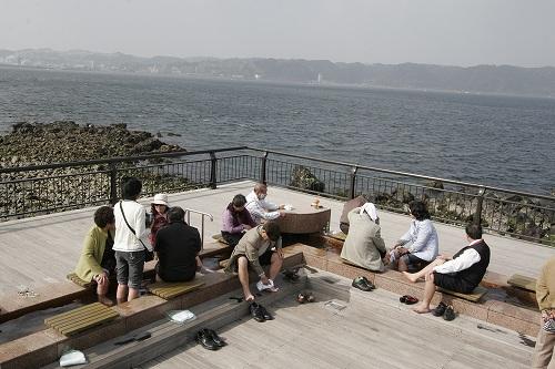 日本一長い足湯
